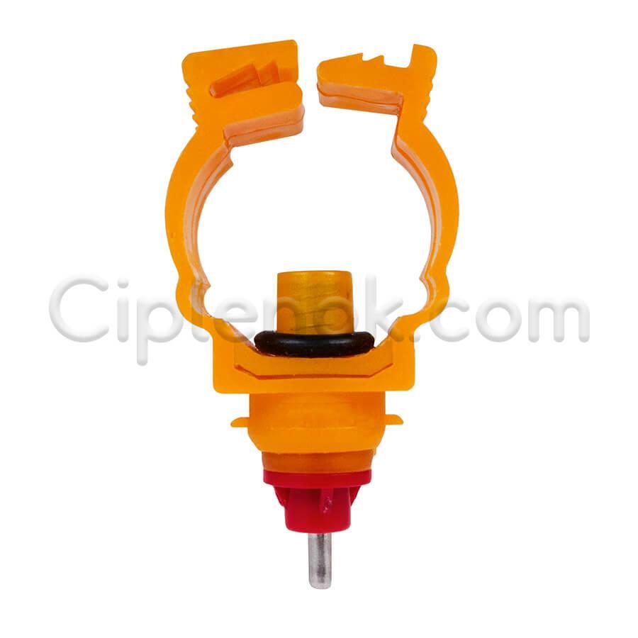 Ниппельная поилка 360 гр. на круглую трубу короткая (тип-1)