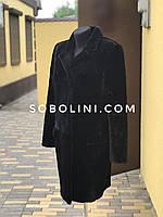 Пальто из  кролика Рекса с английским воротником