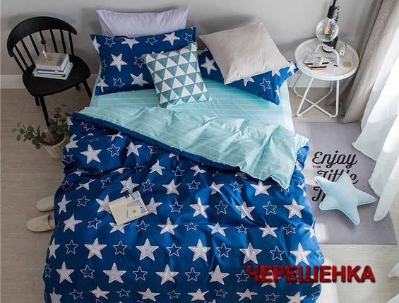 Семейный набор хлопкового постельного белья из Сатина №1913AB  Черешенка™, фото 2