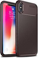 Чехол-накладка TOTO TPU Carbon Fiber 1,5mm Case Apple iPhone X/XS Coffee #I/S