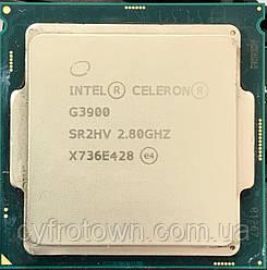 Процессор Intel Celeron G3900 2 ядра 2.8GHz 8GT s 2MB SR2HV X736E428 s1151 tray бу