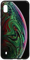 Чехол-накладка TOTO Print Glass Space Case Samsung Galaxy A10 Green #I/S
