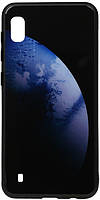 Чехол-накладка TOTO Print Glass Space Case Samsung Galaxy A10 Dark Blue #I/S