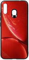 Чехол-накладка TOTO Print Glass Space Case Samsung Galaxy A20/A30 Red #I/S