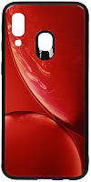 Чехол-накладка TOTO Print Glass Space Case Samsung Galaxy A40 Red #I/S