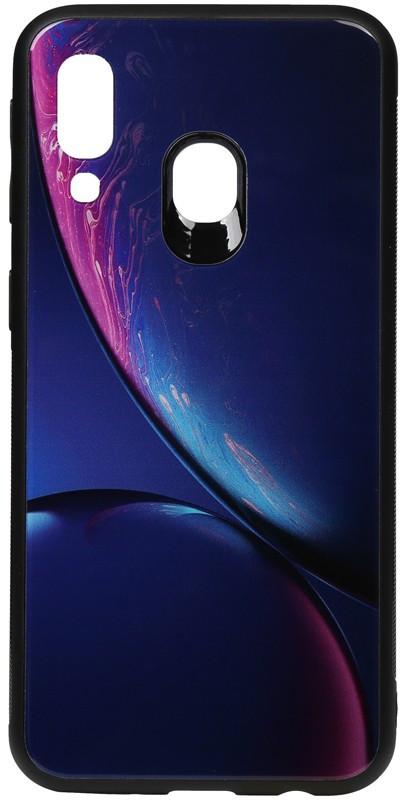 Чехол-накладка TOTO Print Glass Space Case Samsung Galaxy A40 Blue #I/S