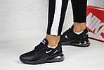 Женские кроссовки Nike Air Max 270 (черные), фото 3