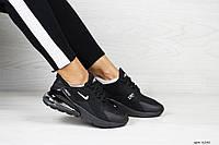 Женские кроссовки Nike Air Max 270 (черные)