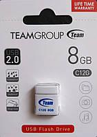 Флеш накопитель Team C12G 8 гб белый,черный