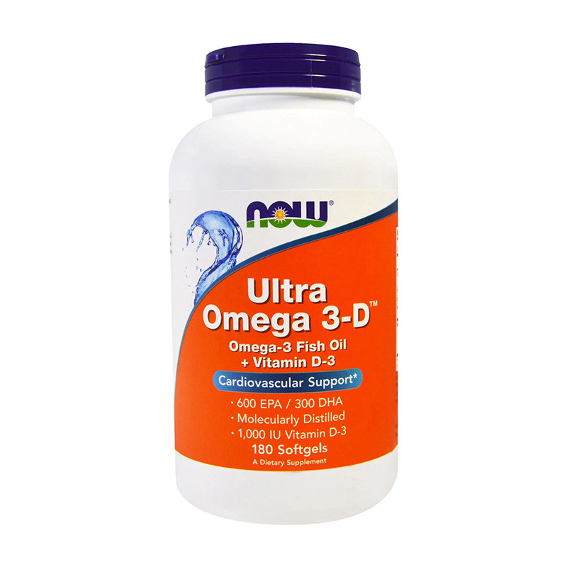 Ultra Omega 3-D (180 softgels) жирные кислоты NOW