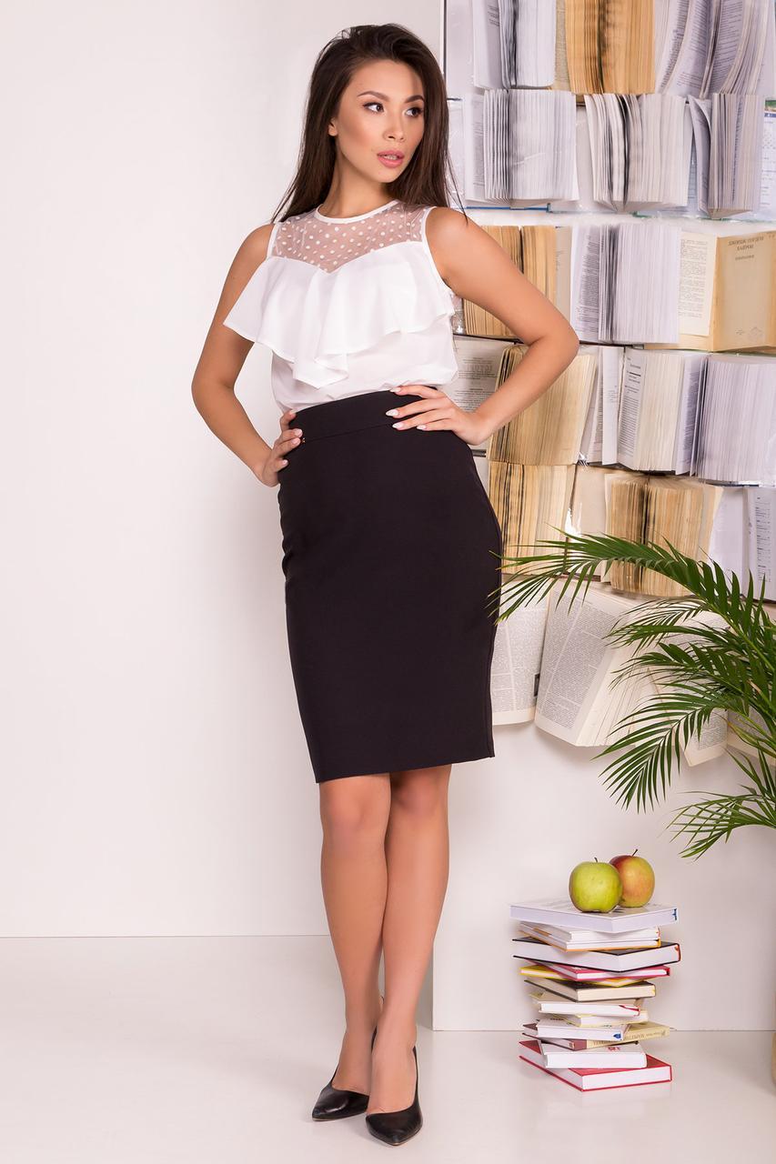 Классическая юбка-карандаш (S, M, L) черная