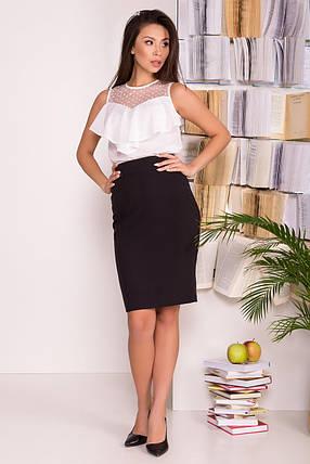 Классическая юбка-карандаш (S, M, L) черная, фото 2