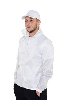Промо куртка ветровка  XL  под сублимацию мужская цвет белый