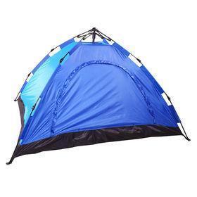 Четырехместная туристическая палатка самораскладывающаяся № 3-4 Синяя