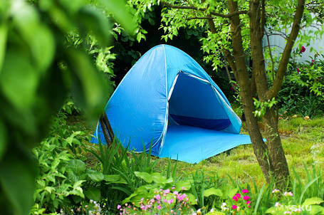 Четырехместная туристическая палатка самораскладывающаяся № 3-4 Синяя, фото 2