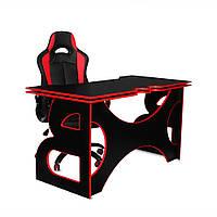 Геймерский комплект кресло и стол Barsky Homework Red HG-05/ПК-01/SD-02, фото 1