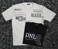 Мужская футболка DANIEL JONES  ботал белая,черная с надписью