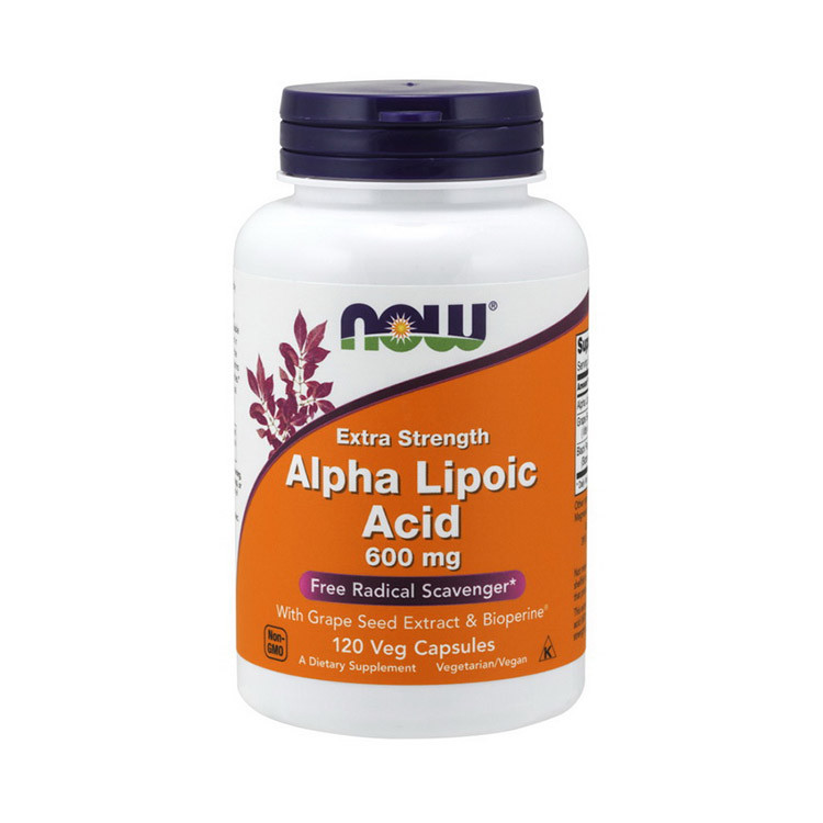 Alpha Lipoic Acid 600 mg Extra Strength (120 veg caps) NOW