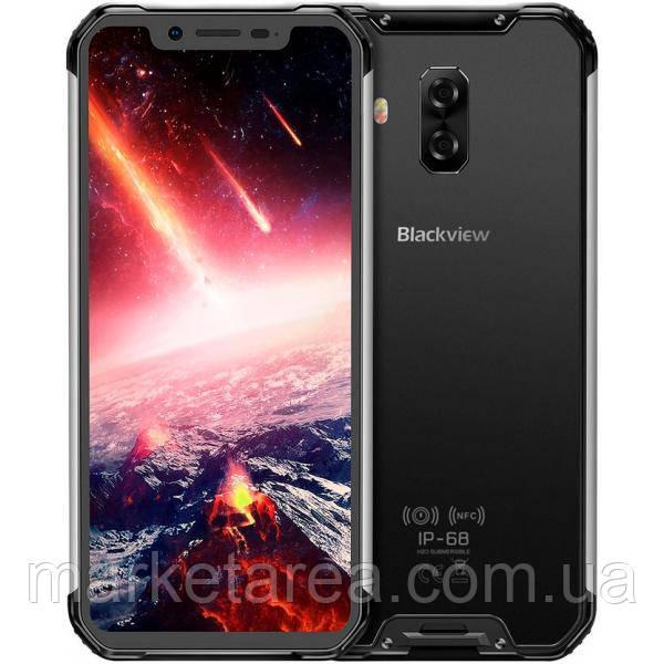 Смартфон противоударный с большим дисплеем и мощной батареей на 2 сим карты Blackview bv9600 silver 4/64 NFC