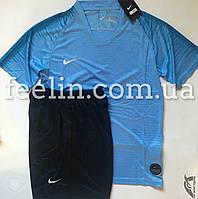 Футбольная форма игровая Nike (Найк светло голубая), фото 1