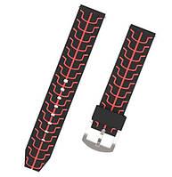 Силиконовый ремешок Primo Splint для часов Huawei Watch GT / GT Active 46mm - Black&Red, фото 1