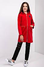 Красивое модное демисезонное пальто на девочку-подростка.