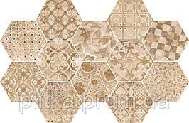 Плитка 18,2*21 Epoca Decoro Cementine Rosa R55U
