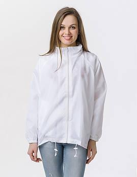 Промо куртка ветровка  XL  под сублимацию женская цвет белый