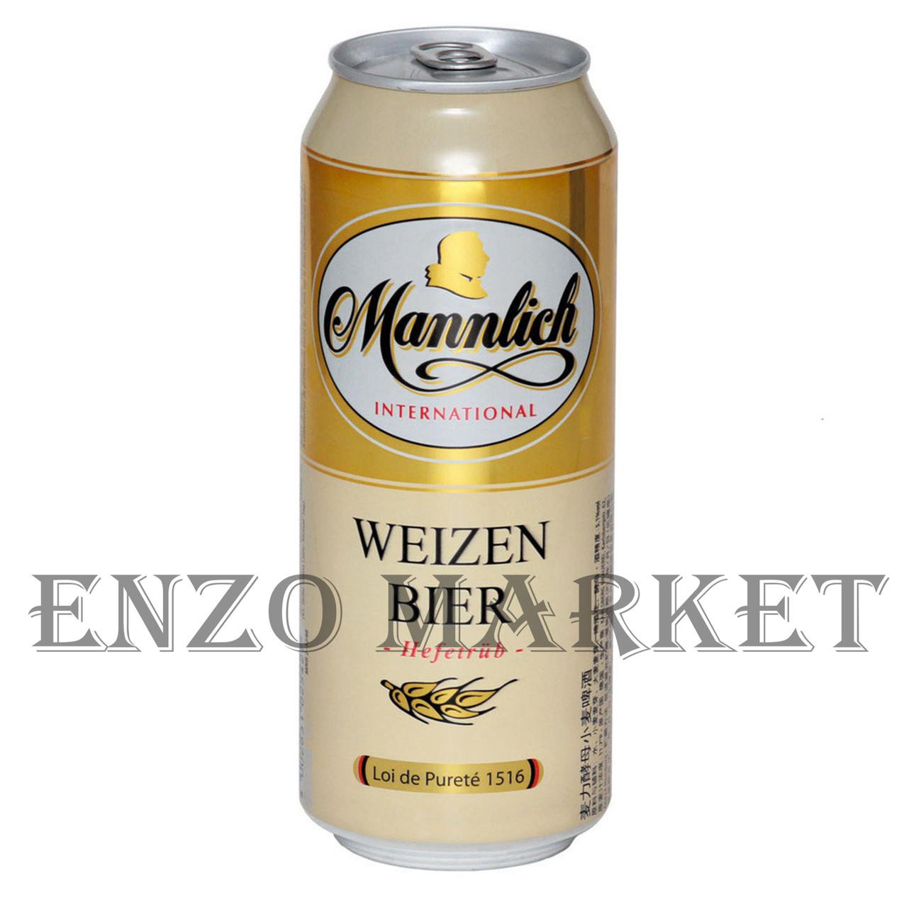 Пиво Mannlich Hefeweizen, 0,5 литра
