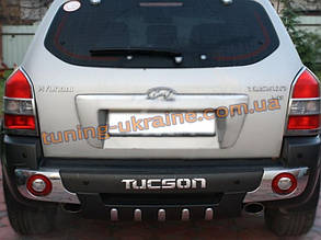 Накладка ABS на бампер задняя для Hyundai Tucson 2004-09