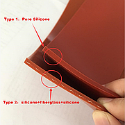 Силиконовая пластина армированная (стекловолокном), 3мм