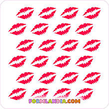 Трафарет для пряников Поцелуи №1
