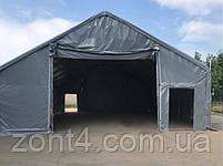 Шатер 8х12х3 метров ПВХ 720г/м2 с мощным каркасом под склад, гараж, палатка, ангар, намет, павильон садовый, фото 3