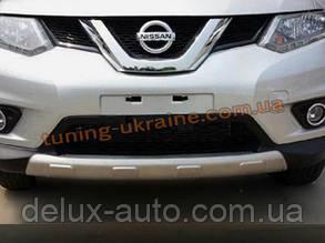 Накладки на бампер передняя и задняя Nissan X-Trail 2014+