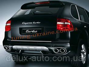 Накладка на бампер задняя Porsche Cayenne 957 2007-2010