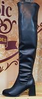 Ботфорты деми кожаные на каблуке от производителя модель КЛ918-6Д