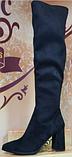 Ботфорты деми кожаные на каблуке от производителя модель КЛ918-6Д, фото 2