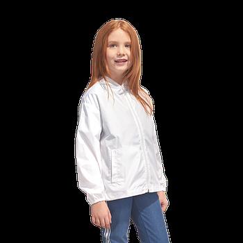 Промо куртка ветровка  размер 146 под сублимацию детская цвет белый