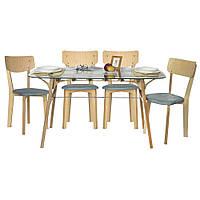 Комплект кабаре стол и 4 стула Barsky Status 01 Glass / 01/1 grey, фото 1
