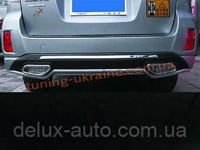 Накладка на бампер задняя Subaru Outback 2013+