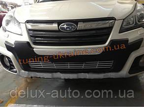 Накладка на бампер передняя Subaru Outback 2013+