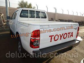 Накладка на бампер задняя Toyota Hilux 2012+