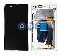 Дисплей (модуль) Sony C6602 C6603 Xperia Z L36h lt36 белый с рамкой