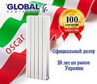 Вертикальные радиаторы Global Oscar 1200/100 (Италия), фото 1