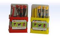 Набор инструментов YX-218, 10шт: 5 отверток, пинцеты, кусачки, плоскогубцы, ножик, лопатка