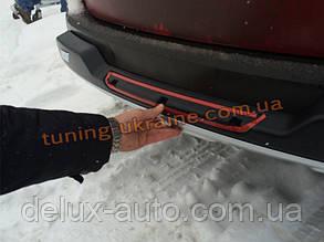 Накладка на бампер задняя Toyota RAV4 2013+