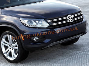Накладка на бампер передняя VolksWagen Tiguan 2008+
