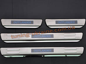 Накладки на пороги с подсветкой для Mitsubishi Outlander 2014+