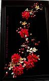 Веточка веночек в прическу тиара гребень ободок под золото красная, фото 2