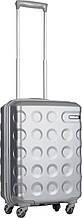 Пластиковый чемодан Carlton Carbon, 31 л, 4 колеса, серебряный